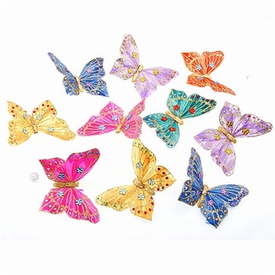 Spring Glitter/Jewels Butterfly Garland