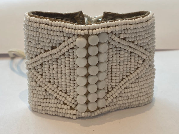 Sipolio Collection: Leather Bracelet Cuff