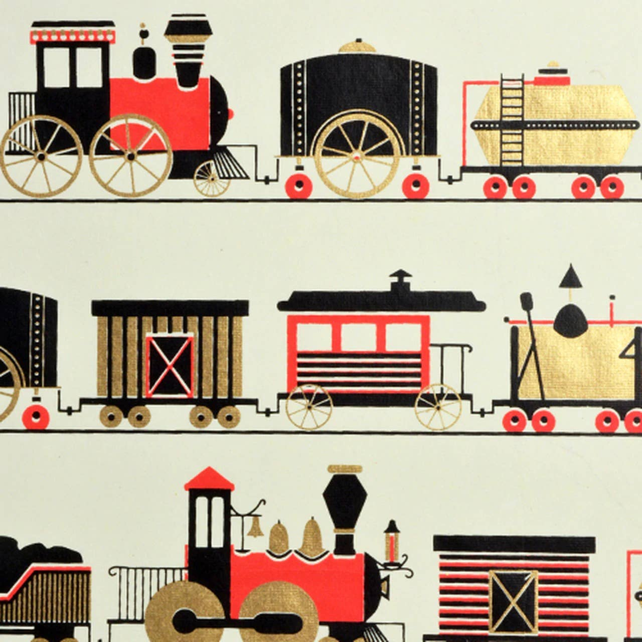 Trains Flat Sheet Giftwrap