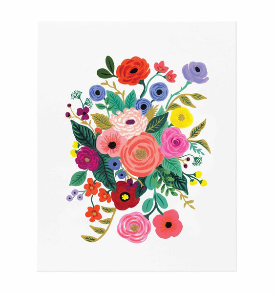 Framed Juliet Rose Bouquet Art Print (16x20)