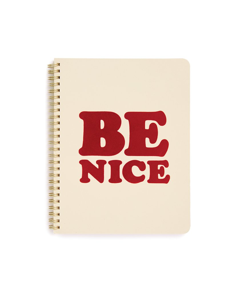 rough draft rough draft mini notebook, be nice