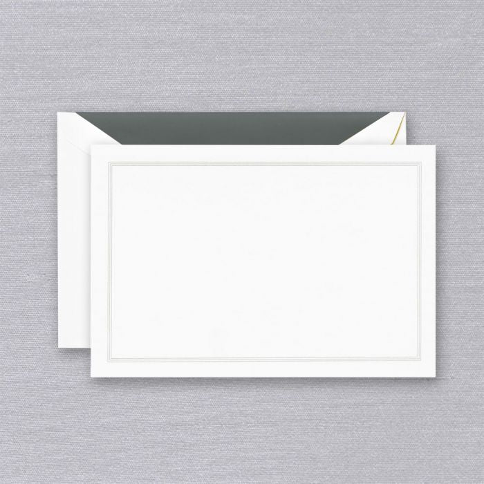 Charcoal Triple Hairline Frame Correspondence Card S/10