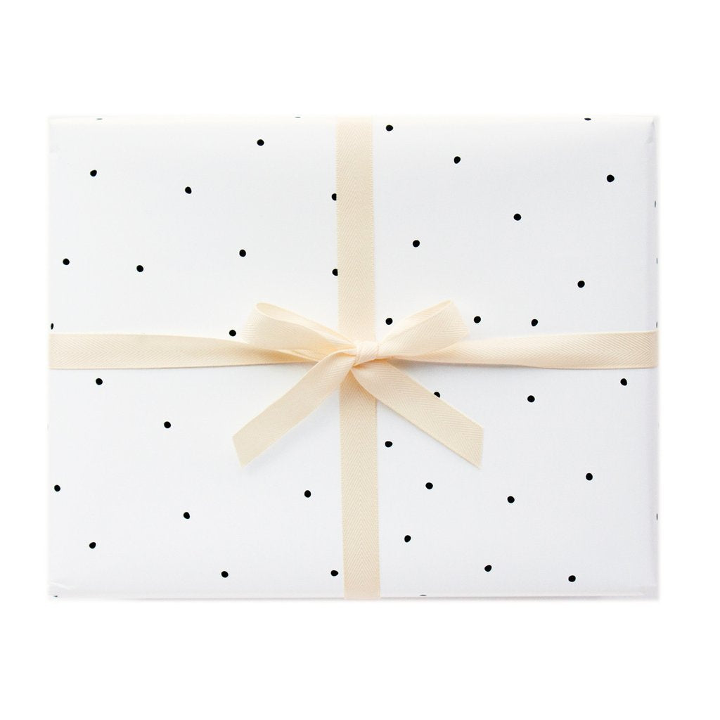 Dotted Gift Wrap Single Sheet