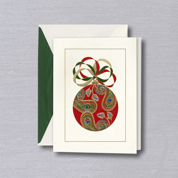Paisley Ornament Holiday Card S/10