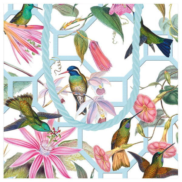 Hummingbird Trellis Square Gift Bag