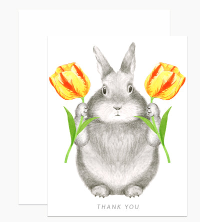 Thank You Bunny with Tulips