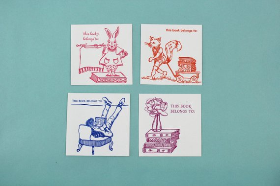 Bookplates - 4 designs - set of 6 per design