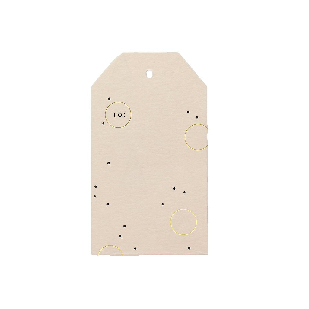 Joyful Dots Blush Gift Tag S/6