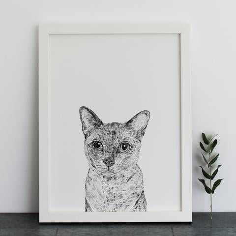 Oscar the Cat Print