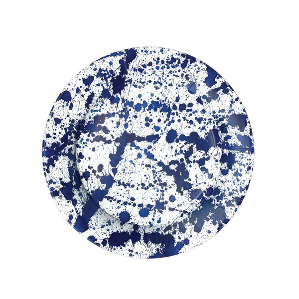 Splatterware Blue Paper Plate