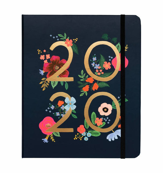 2019-2020- 17 Month Wild Rose Covered Spiral Planner