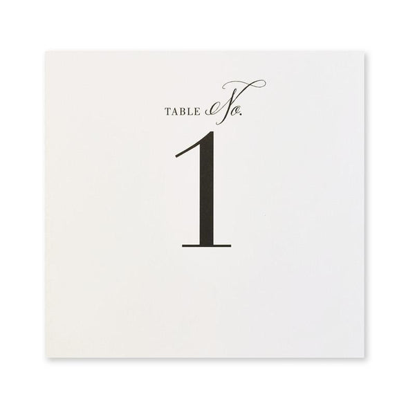 The Big Day Table Numbers 1-12
