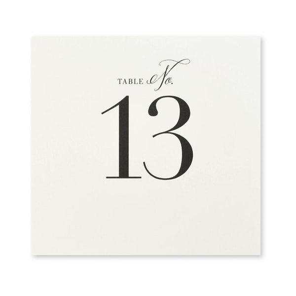 The Big Day Table Numbers 13-24