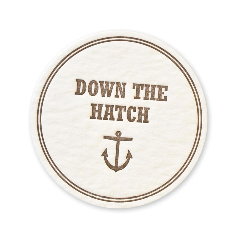 Down the Hatch Coasters - set of 15