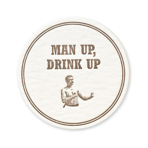 Man Up Coasters - set of 15