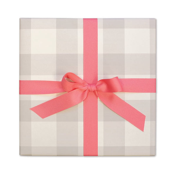 Moonstone Gingham Gift Wrap