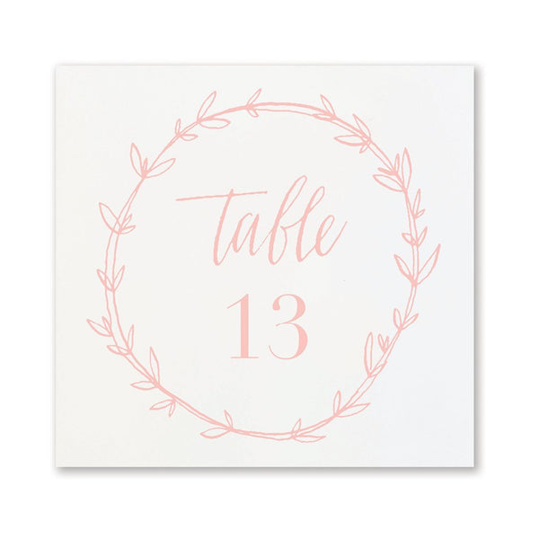 Flamingo Wreath Table Numbers 13-24