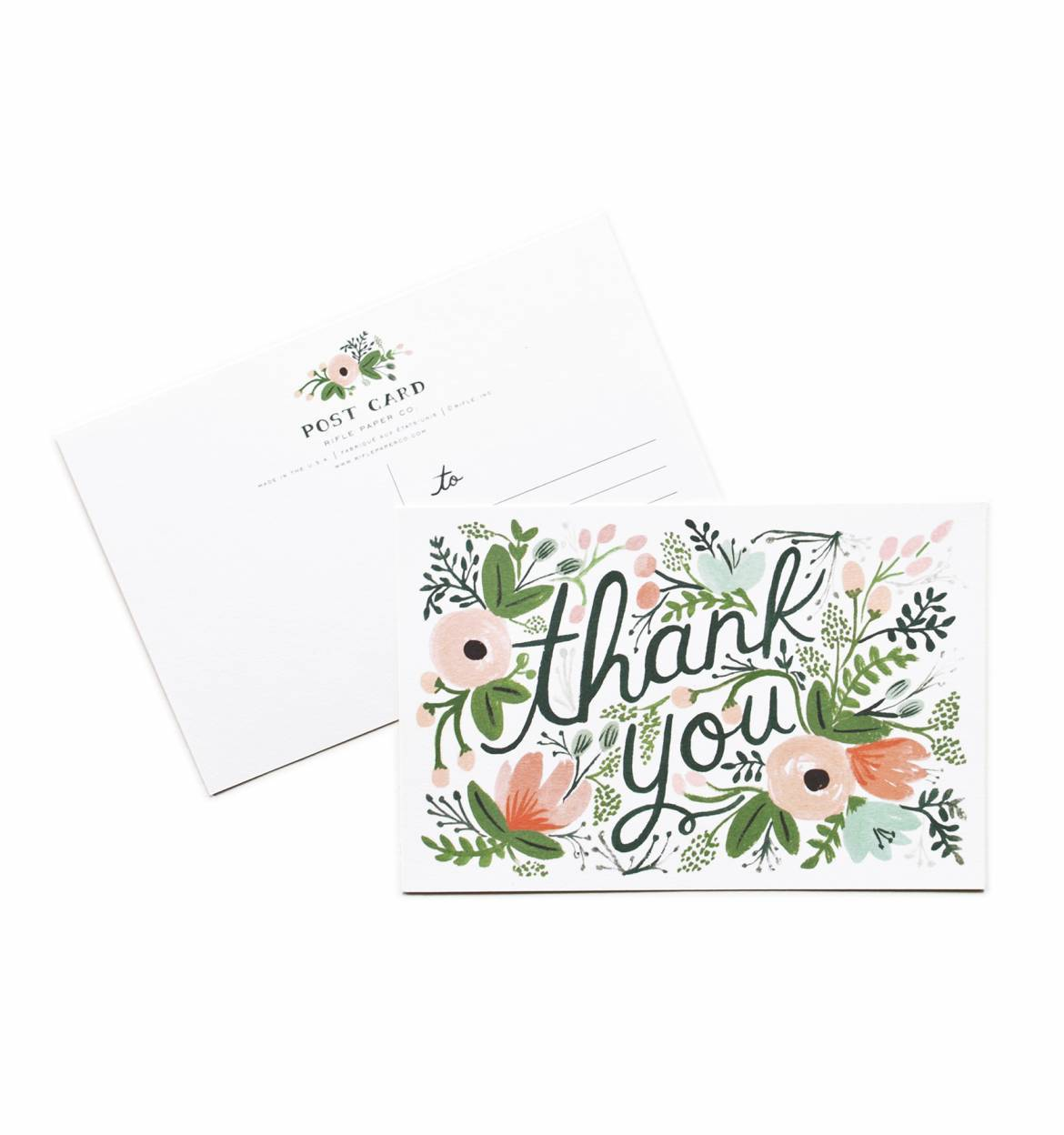 Pack of 10 Wildflower Thank You postcards