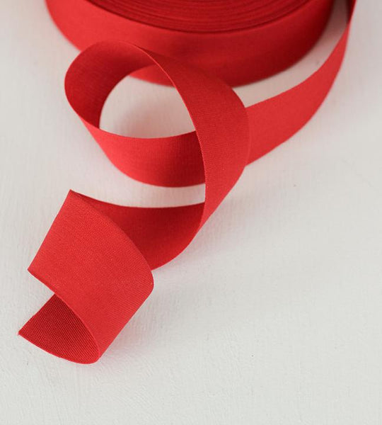 "Tight weave cotton ribbon 1 1/2"" width, 44 yards RED"