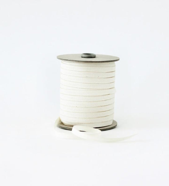"Tight weave cotton ribbon,  1/4"" natural width sold by yard"