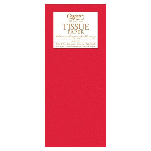 Solid Tissue Paper in Red - 8 Sheets Included