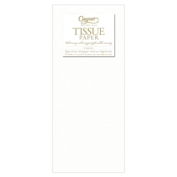 Solid Tissue Paper in White - 8 Sheets Included