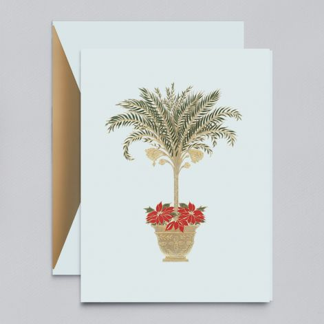 Engraved Tropical Holiday Greeting Card S/10