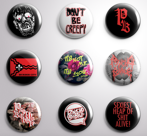 Psycho Babble Button Pack