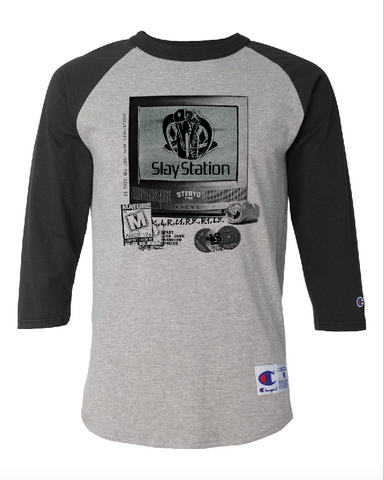 SlayStation 2 Raglan - Steryo Type Clothing & Psycho Babble