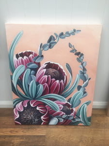 Original Floral Painting - Artwork Ready To Hang!