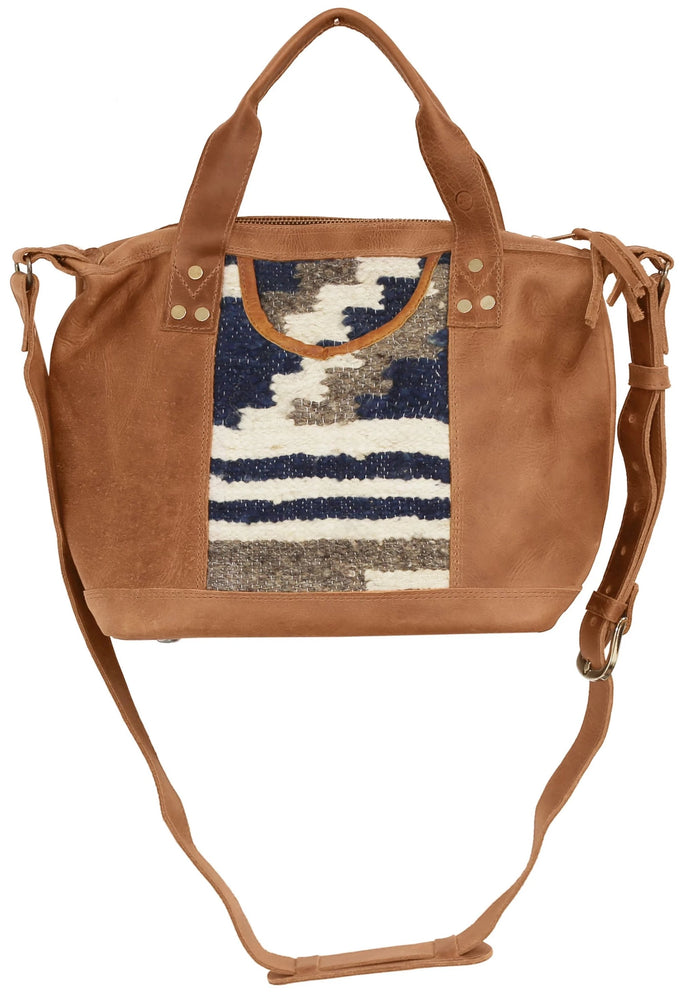 The 'Gigi' Crossbody in Indigo Stripe