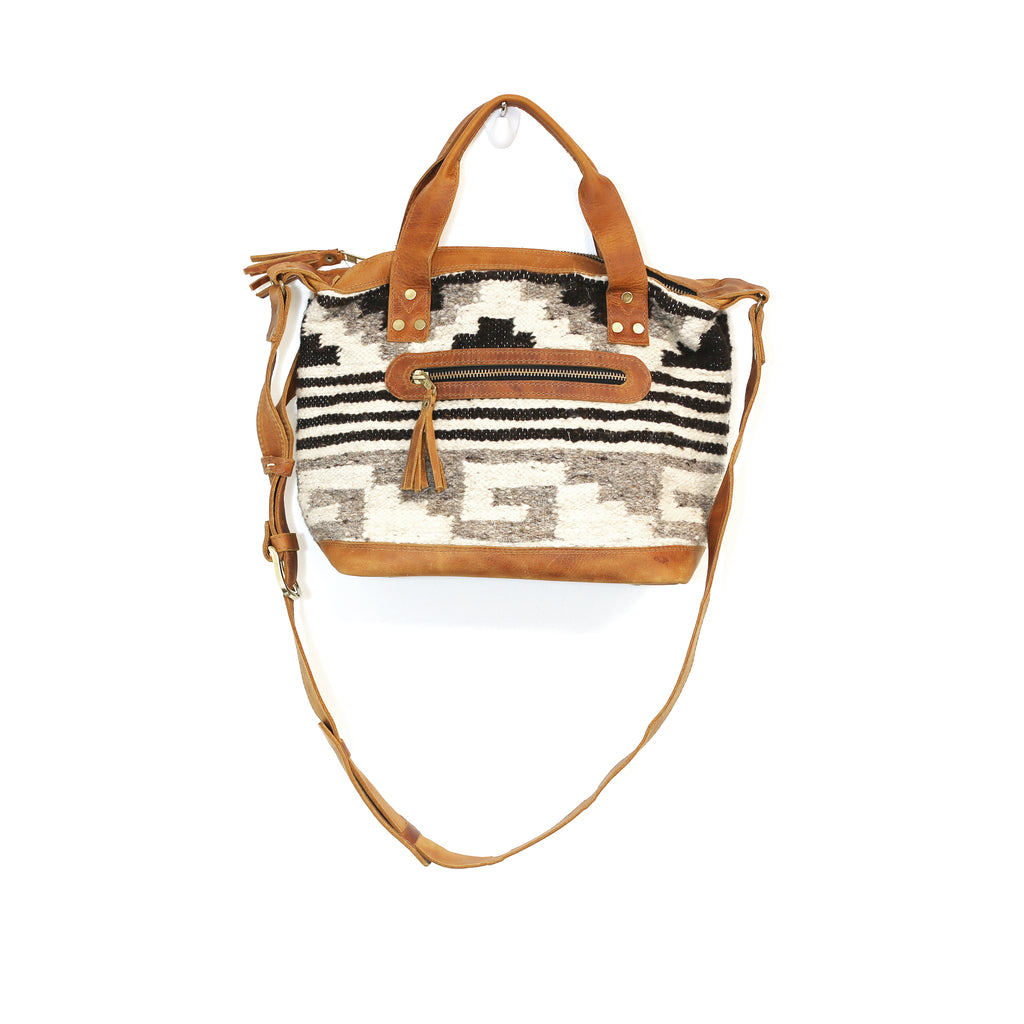 The 'Gigi' Crossbody in Chocolate Stripe (all wool)