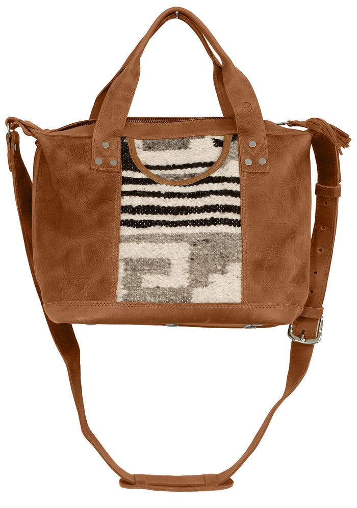 The 'Gigi' Crossbody in Chocolate Stripe