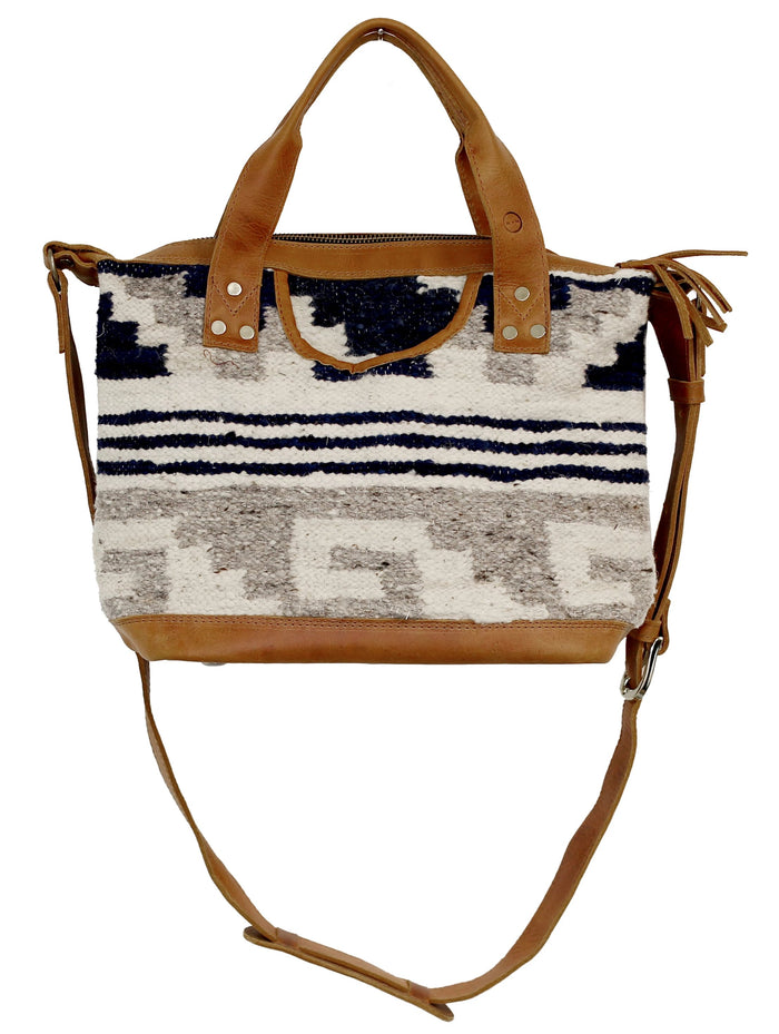 The 'Gigi' Crossbody in Indigo Stripe (all wool)