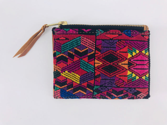 The 'Ria' Wallet in Vintage Huipil #003