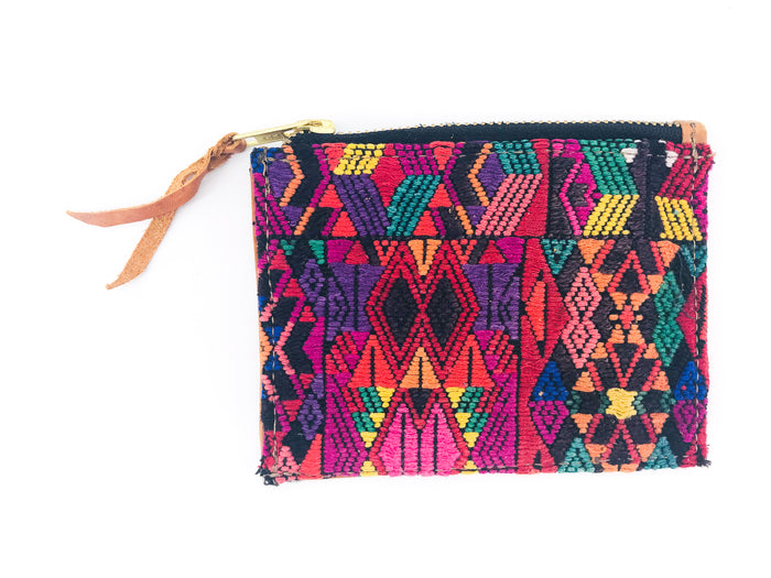 The 'Ria' Wallet in Vintage Huipil #002