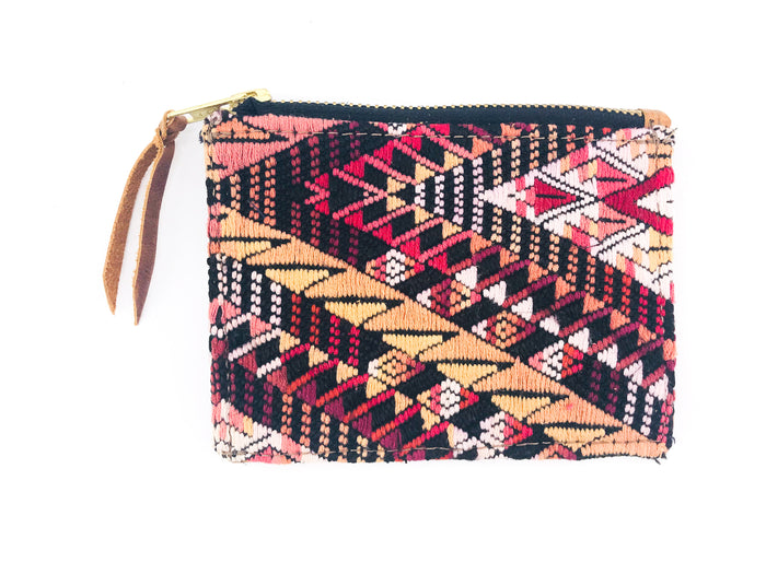 The 'Ria' Wallet in Vintage Huipil #004