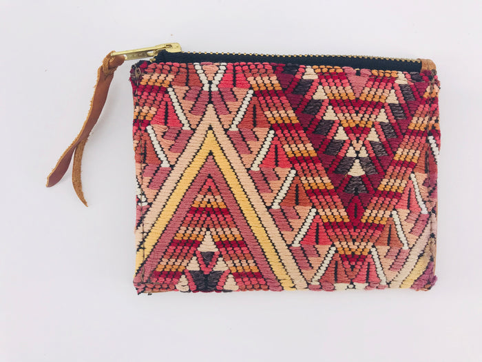 The 'Ria' Wallet in Vintage Huipil #005