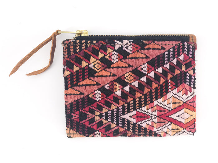 The 'Ria' Wallet in Vintage Huipil #006