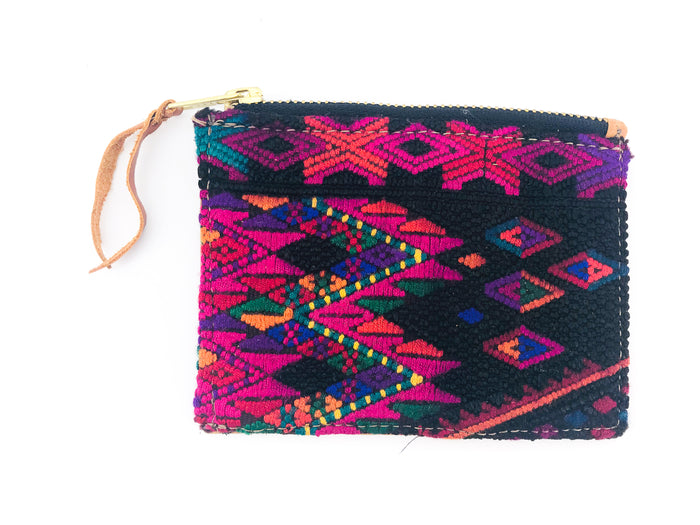 The 'Ria' Wallet in Vintage Huipil #007