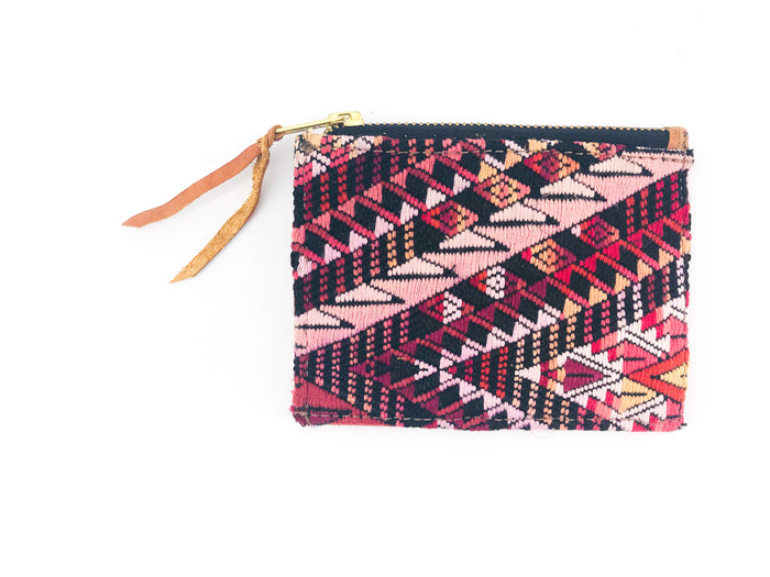 The 'Ria' Wallet in Vintage Huipil #008