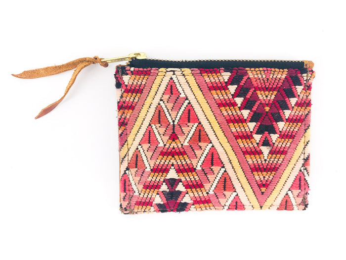 The 'Ria' Wallet in Vintage Huipil #012