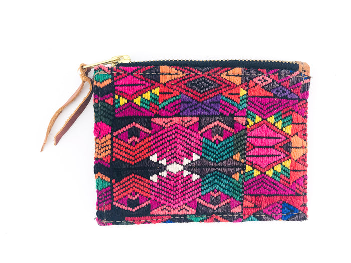 The 'Ria' Wallet in Vintage Huipil #013