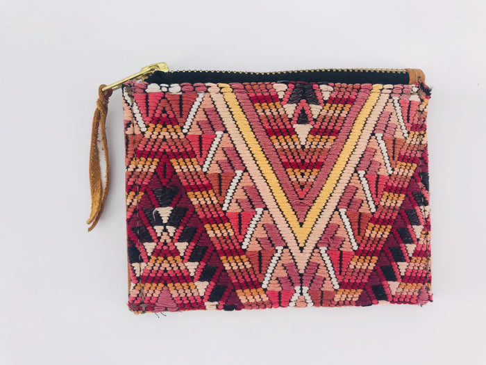 The 'Ria' Wallet in Vintage Huipil #014