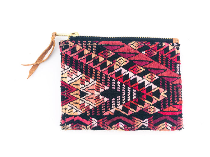 The 'Ria' Wallet in Vintage Huipil #016