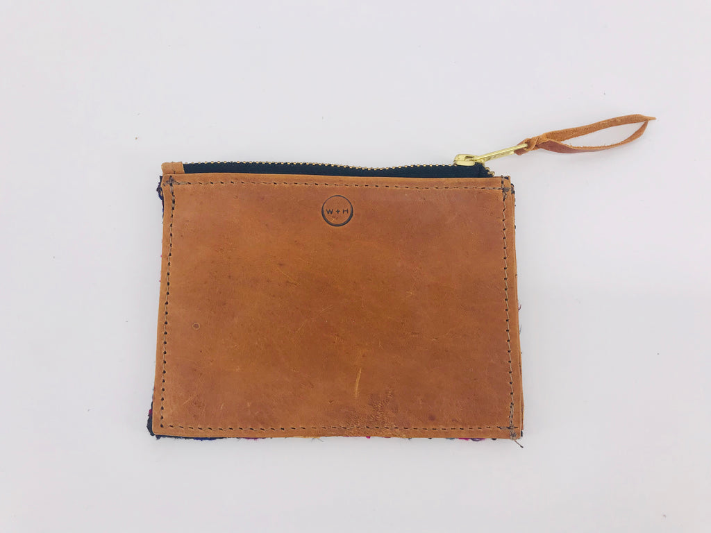 The 'Ria' Wallet in Vintage Huipil #001