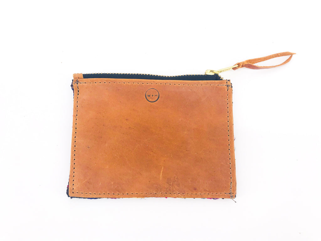 The 'Ria' Wallet in Vintage Huipil #010