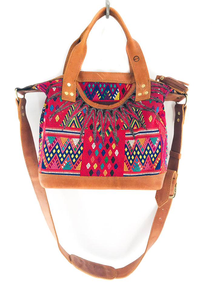 The 'Gigi' Crossbody in  Vintage Huipil #060