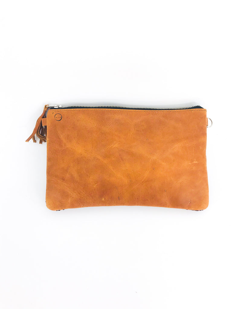 The 'Mia' Clutch in Vintage Huipil #065