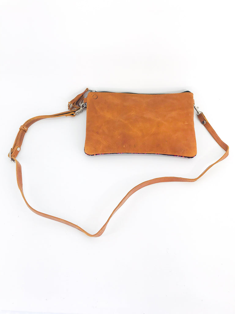 The 'Mia' Clutch in Vintage Huipil #064